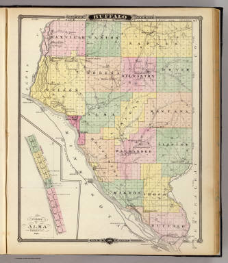 Map of Buffalo County and Village of Alma, State of Wisconsin. / Snyder, Van Vechten & Co. / 1878