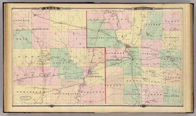Map of Wood and Portage counties, State of Wisconsin. / Snyder, Van Vechten & Co. / 1878