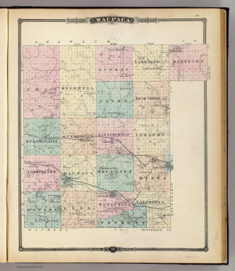 Map of Waupaca County, State of Wisconsin. / Snyder, Van Vechten