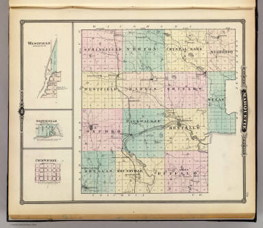 Map of Marquette County & Westfield, Harrisville & Packwaukee