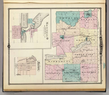 Lake County Colorado Map.Map Of Green Lake County State Of Wisconsin And Montello And Oxford