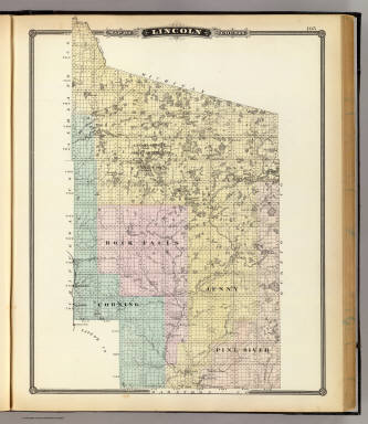 Map of Lincoln County. / Snyder, Van Vechten & Co. / 1878