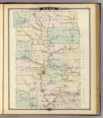 Map of Dunn County, State of Wisconsin. / Snyder, Van Vechten & Co Dunn County Wi Map on