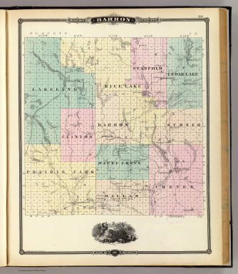 Map Of Barron County State Of Wisconsin Snyder Van