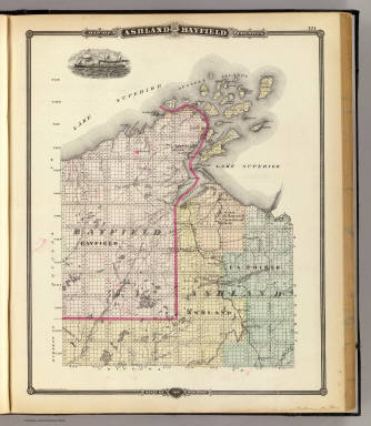 Full Size Van >> Map of Ashland and Bayfield counties, State of Wisconsin ...