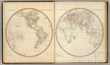 W., E. Hemispheres. / Society for the Diffusion of Useful Knowledge (Great Britain) / 1844