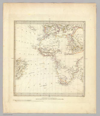 (World, gnomonic proj. I. Africa and south Europe) / Society for the Diffusion of Useful Knowledge (Great Britain) / 1831