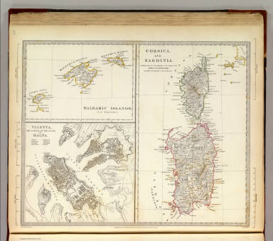 Corsica, Sardinia, Belearic Islands, Valetta. / Society for the Diffusion of Useful Knowledge (Great Britain) / 1831