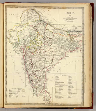 India XII. Index map. / Society for the Diffusion of Useful Knowledge (Great Britain) / 1835