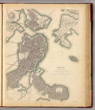 Boston, Charlestown, Roxbury. / Society for the Diffusion of Useful Knowledge (Great Britain) / 1842
