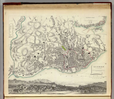 Lisbon. Lisboa. / Society for the Diffusion of Useful Knowledge (Great Britain) / 1833