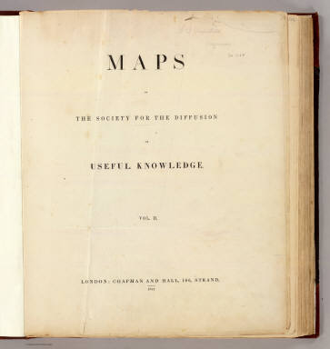 Title Page: Maps of the SDUK. v.2. / Society for the Diffusion of Useful Knowledge (Great Britain) / 1844