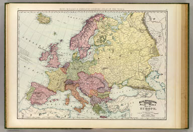 Rand, McNally & Company's indexed atlas of the world map of Europe. Copyright 1891, by Rand, McNally & Co. ... Engravers, Chicago. (1897)