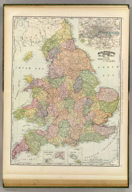 Rand, McNally & Company's indexed atlas of the world map of England and Wales. (with) London and environs. Copyright 1892, by Rand, McNally & Co. ... (Chicago, 1897)