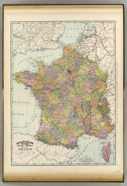 Rand, McNally & Company's indexed atlas of the world map of France. Copyright 1892, by Rand, McNally & Co. (Chicago, 1897)