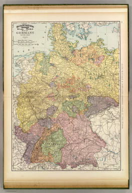 Rand, McNally & Company's indexed atlas of the world map of Germany, western sheet. Copyright 1891, by Rand, McNally & Co. (Chicago, 1897)