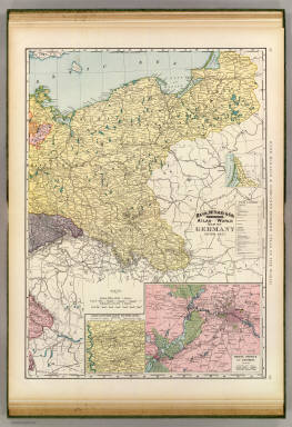 Rand, McNally & Company's indexed atlas of the world map of Germany, eastern sheet. (with) Rhenish-Westphalian industry and mining district. (with) Berlin, Potsdam and environs. Copyright 1891, by Rand, McNally & Co. (Chicago, 1897)