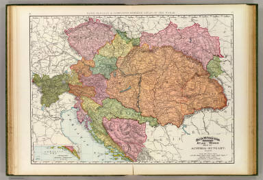 Rand, McNally & Company's indexed atlas of the world map of Austria-Hungary. Copyright 1891, by Rand, McNally & Co. (Chicago, 1897)
