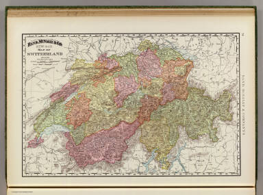 Rand, McNally & Co.'s new 14 x 21 map of Switzerland. Copyright 1895, by Rand, McNally & Co. (Chicago, 1897)