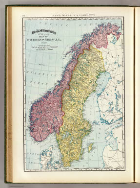 Rand, McNally & Co.'s new 14 x 21 map of Sweden and Norway. Copyright 1895, by Rand, McNally & Co. (Chicago, 1897)