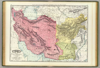 Rand, McNally & Company's indexed atlas of the world map of Persia, Afghanistan, and Baluchistan. Copyright 1892, by Rand, McNally & Co. ... Engravers, Chicago, (1897)