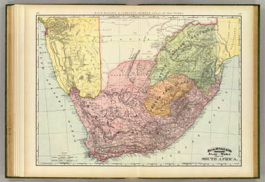 Rand, McNally & Company's indexed atlas of the world map of South Africa. Copyright 1892, by Rand, McNally & Co. (Chicago, 1897)