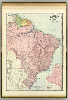 Rand, McNally & Co.'s indexed atlas of the world map of Brazil and Guiana. Copyright 1892, by Rand, McNally & Co. ... Engravers, Chicago, (1897)