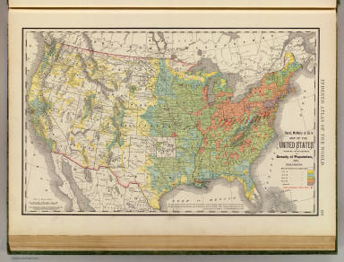 States Population Density Rand McNally And Company - 1890 map of us