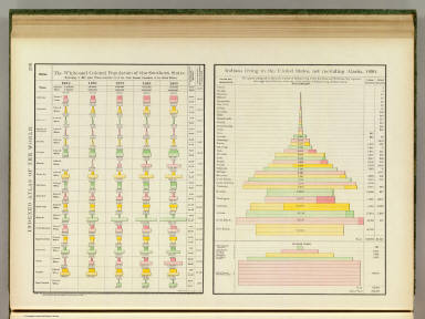 White, colored population, Southern States; Indians, 1890. / Rand McNally and Company / 1897