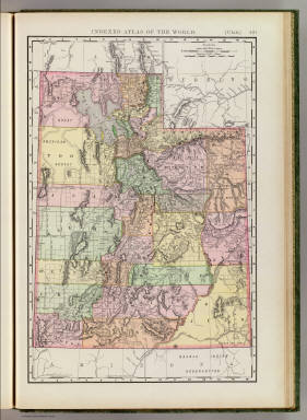 Rand, McNally & Co.'s new business atlas map of Utah. Copyright, 1893, by Rand, McNally & Co. (Chicago, 1897)