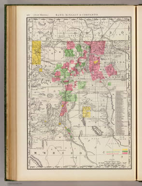 Rand, McNally & Co.'s business atlas map of New Mexico. Copyright, 1888, by Rand, McNally & Co. (Chicago, 1897)