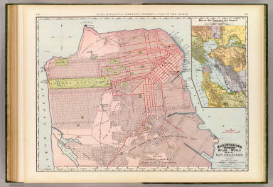 Rand, McNally & Co.'s indexed atlas of the world map of San Francisco. Rand, McNally & Co.'s new business atlas map of San Francisco. Copyright, 1891 ... Rand, McNally & Co., Engravers, Chicago. (1897)