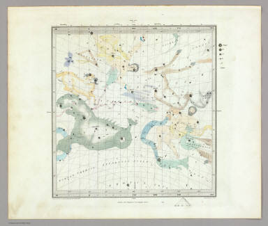Anno 1830. No. 1. September, October, November. (The Stars, in six maps, on the gnomonic projection, revised by the Rev. W.R. Dawes. Under the superintendence of the Society for the Diffusion of Useful Knowledge). Drawn by W. Newton. The constellations by W. Clarke archt. Engraved by J. & C. Walker. London: Chas. Knight & Co., 22, Ludgate Street. (1844)
