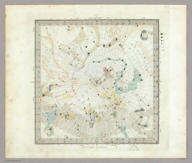 Anno 1830. No. 5. Circumjacent the North Pole. (The Stars, in six maps, on the gnomonic projection, revised by the Rev. W.R. Dawes. Under the superintendence of the Society for the Diffusion of Useful Knowledge). Drawn by W. Newton. The constellations by W. Clarke archt. Engraved by J. & C. Walker. London: Chas. Knight & Co., 22, Ludgate Street. (1844)