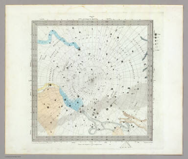 Anno 1830. No. 6. Circumjacent the South Pole. (The Stars, in six maps, on the gnomonic projection, revised by the Rev. W.R. Dawes. Under the superintendence of the Society for the Diffusion of Useful Knowledge). Drawn by W. Newton. The constellations by W. Clarke archt. Engraved by J. & C. Walker. London: Chas. Knight & Co., 22, Ludgate Street. (1844)