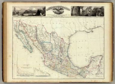 Carta general de la Republica Mexicana. / Garcia Cubas, Antonio, 1832-1912 / 1858