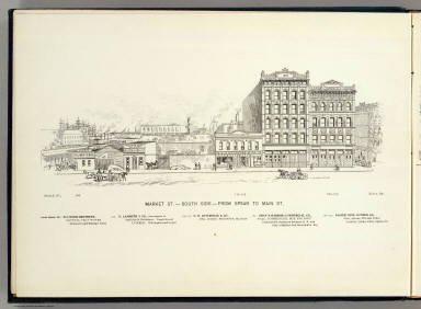 Market S side Spear-Main. / Illustrated Directory Company; Glover, E. S. / 1895