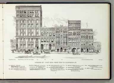 Sansome E side Pine-Calif. / Hicks-Judd Company; Glover, E. S. / 1895