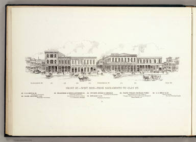 Front W side Sacto.-Clay. / Hicks-Judd Company; Glover, E. S. / 1895