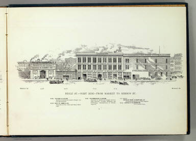 Beale W side Market-Mission. / Hicks-Judd Company; Glover, E. S. / 1895