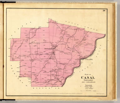 Plan of Canal Township. Entered ... 1865 ... Southern District of New York by F.W. Beers & Co. Ferd. Mayer & Co. Lithographers, 96 Fulton St., N.Y.