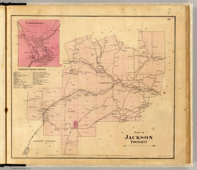 Plan of Jackson Township. (with) Coopertown. Entered ... 1865 ... Southern District of New York by F.W. Beers & Co. Ferd. Mayer & Co. Lithographers, 96 Fulton St., N.Y.