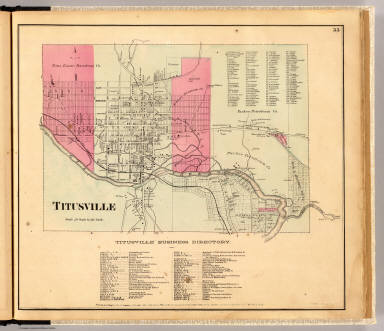 Titusville. Entered ... 1865 ... Southern District of New York by F.W. Beers & Co. Ferd. Mayer & Co. Lithographers, 96 Fulton St., N.Y.