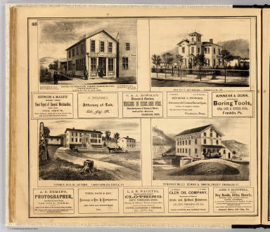 Buildings, Oil City, Franklin, Tarr Farm. / Beers, F. W. (Frederick W.); F.W. Beers & Co. / 1865