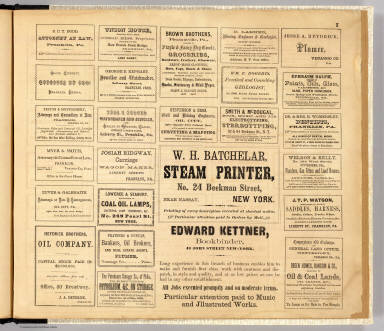 Advertisements. / Beers, F. W. (Frederick W.); F.W. Beers & Co. / 1865