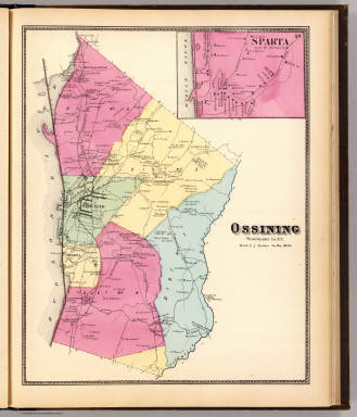 Ossining, Sparta. / Beers, F. W. (Frederick W.) / 1868