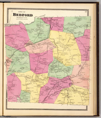 Bedford,Town. / Beers, F. W. (Frederick W.) / 1868
