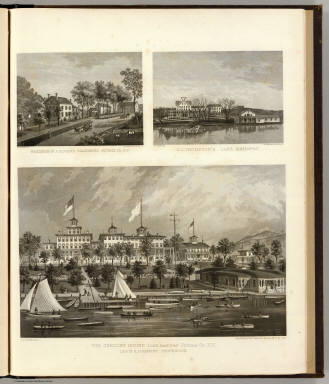Gregory House, Doane, Thompson residences. / Sneden, Robert Knox, 1832-1918 ; Beers, F. W. (Frederick W.) / 1868