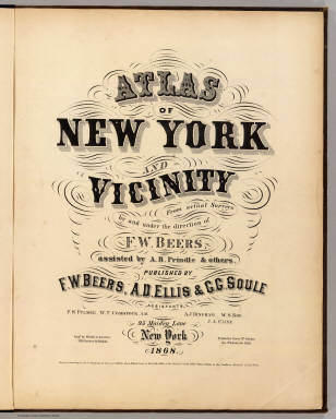 Title Page: Atlas of New York, vicinity. / Beers, F. W. (Frederick W.) / 1868
