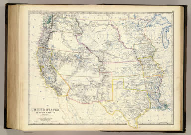 States W Johnston Alexander Keith - Us map 1861